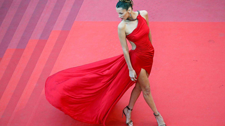 La modelo Bella Hadid en el Festival de Cannes. (Reuters)