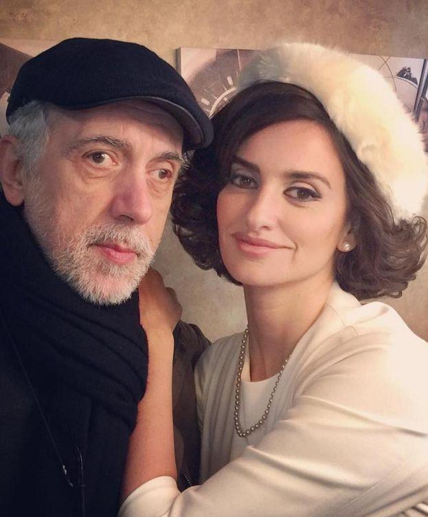 Foto: Fernando Trueba junto a Penélope Cruz (Instagram)