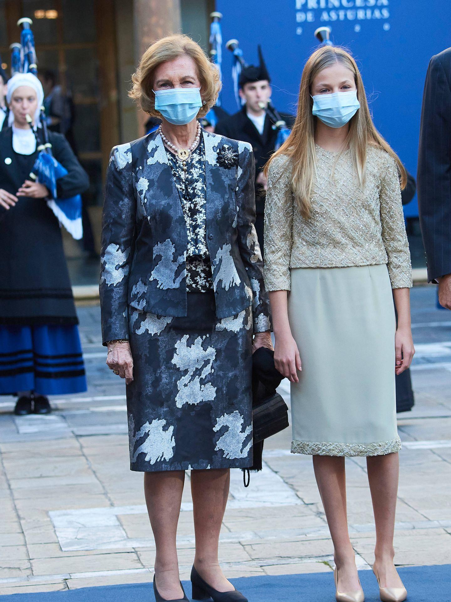 La princesa Leonor y la reina Sofía. (LP)