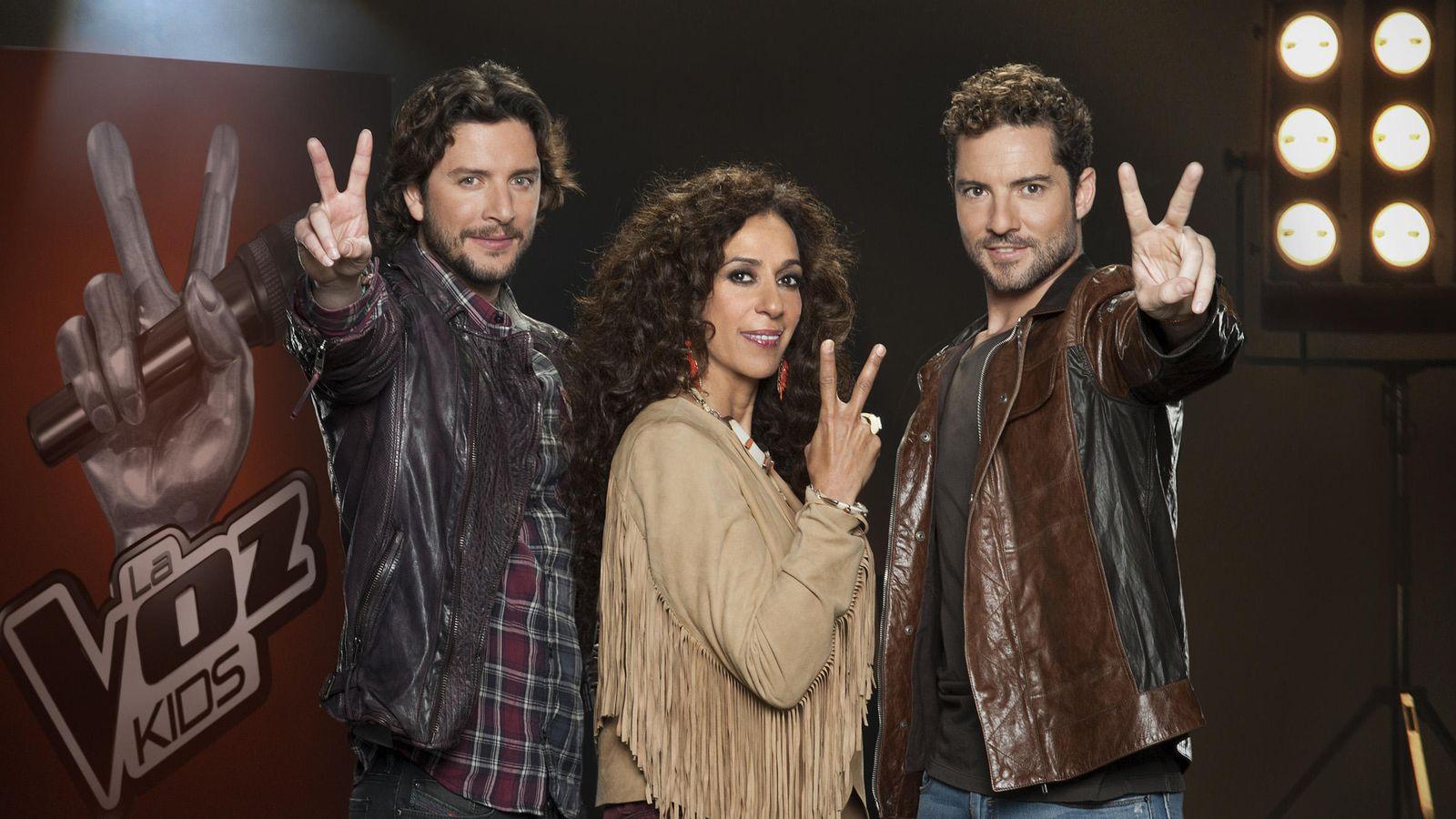 Foto: Manuel Carrasco, Rosario y David Bisbal, 'coaches' de 'La Voz Kids 2' (Telecinco)