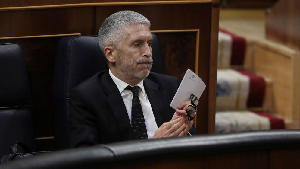 Foto: El ministro del Interior, Fernando Grande-Marlaska, durante la rueda de prensa posterior a la reunión del Consejo de Ministros. (EFE)