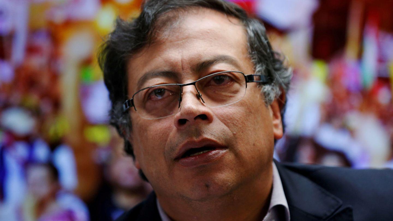Gustavo Petro durante una rueda de prensa en Bogotá, el 20 de mayo de 2018. (Reuters)
