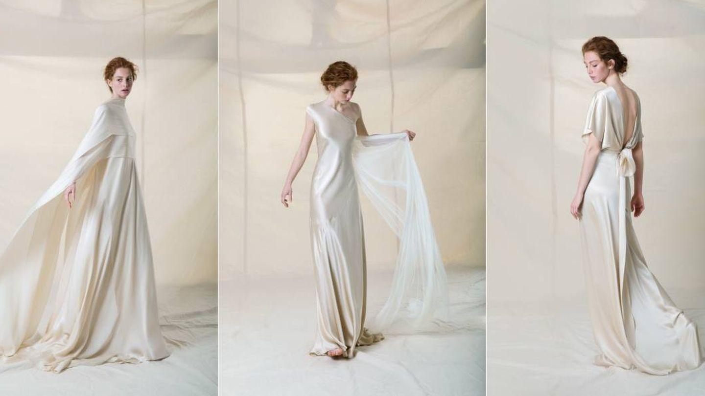 Diseños de la nueva colección de novias de Cortana. (Cortesía de la marca)