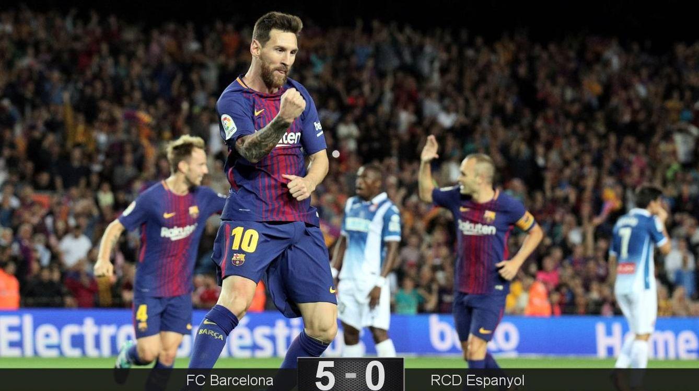 Foto: Leo Messi ya lleva cinco goles en Liga esta temporada. (Reuters)