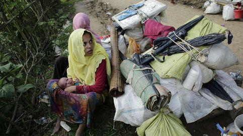 Un grupo de refugiados rohinyás llegan a Tuangiri