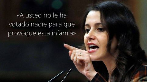 Las frases de Arrimadas en la investidura: El propio Sánchez votaría 'no' a su investidura