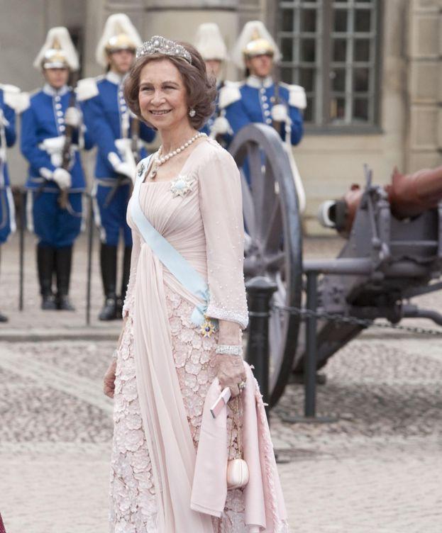 Foto: La Reina Sofía en la boda de Victoria y Daniel de Suecia (Gtres)