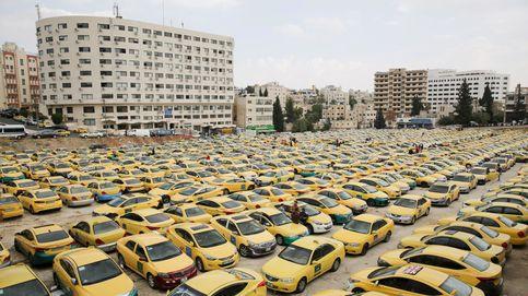 Protestas de taxistas contra los VTC en Amán