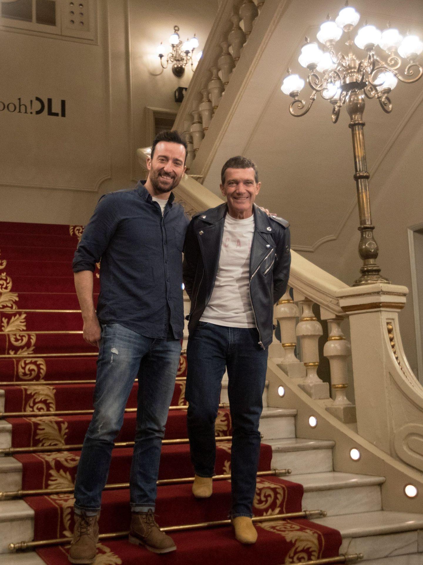Antonio Banderas y Pablo Puyol. (EFE)