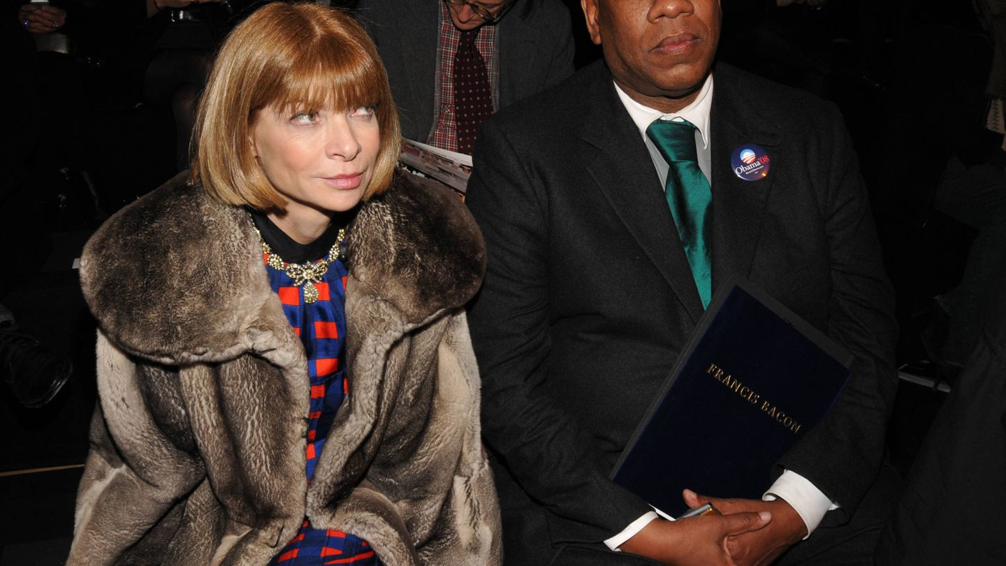André Leon Talley y Anna Wintour (Getty)