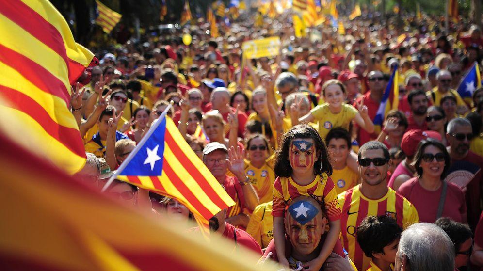 Foto: Banderas independentistas en Barcelona con motivo de la Diada. (Reuters)