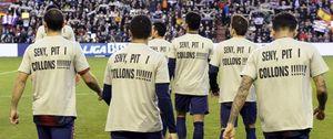 """Foto: """"Seny, pit i collons"""", en las camisetas por Tito"""