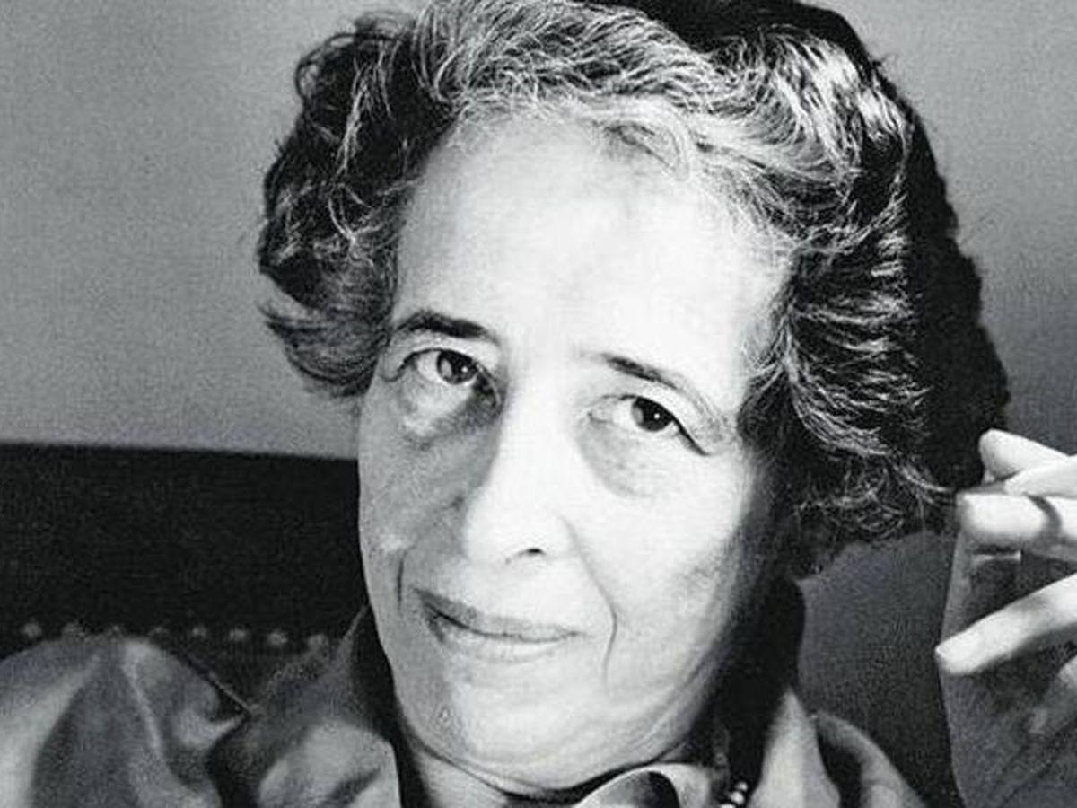 Foto: La filósofa Hannah Arendt.