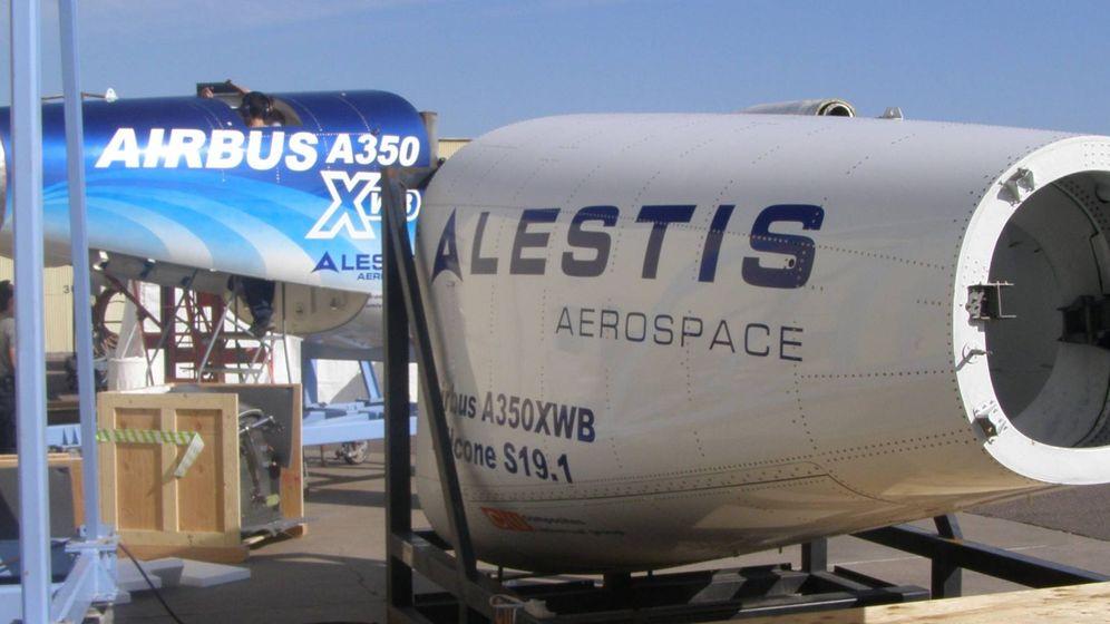 Foto: Cono de cola del A350 de Airbus. (Alestis Aerospace)