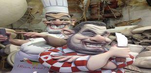 Post de Chicote y Arguiñano posan juntos en un ninot, ¿se salvarán de la quema?
