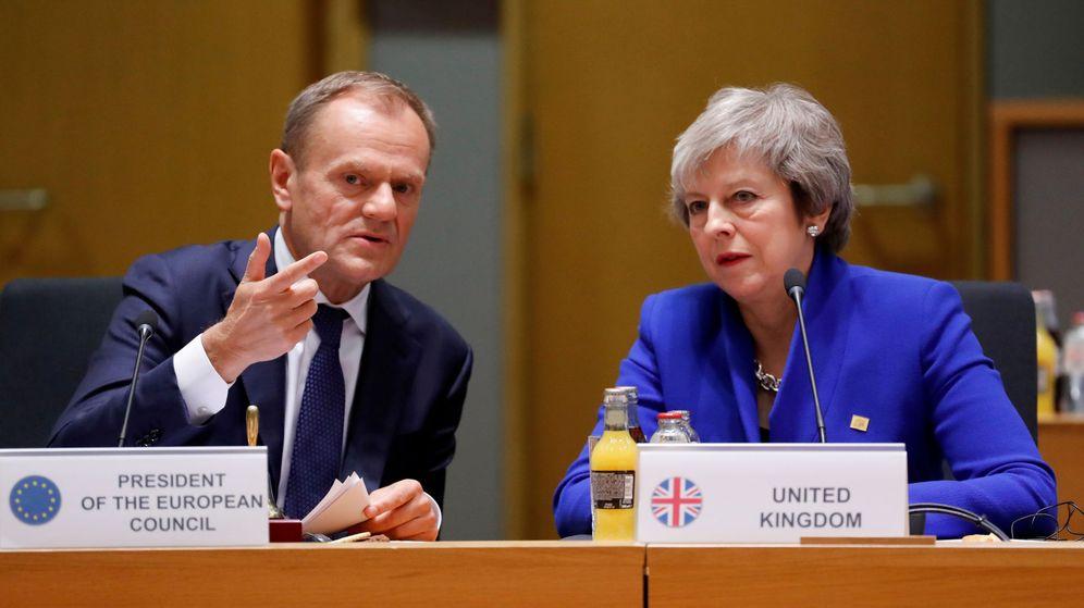 Foto: Donald Tusk y Theresa May. (Reuters)