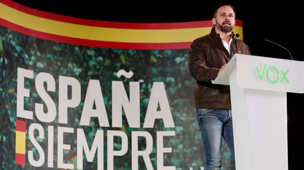 Foto: El líder de Vox, Santiago Abascal, en un acto del partido. (EFE)