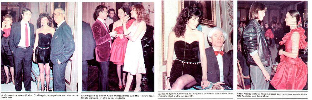 Foto: Algunas fotografías de Warhol que publicó la revista 'Garbo' sobre su visita a Madrid.