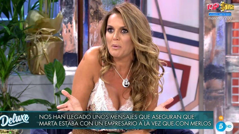 Marta López, en 'Viernes Deluxe'. (Telecinco).