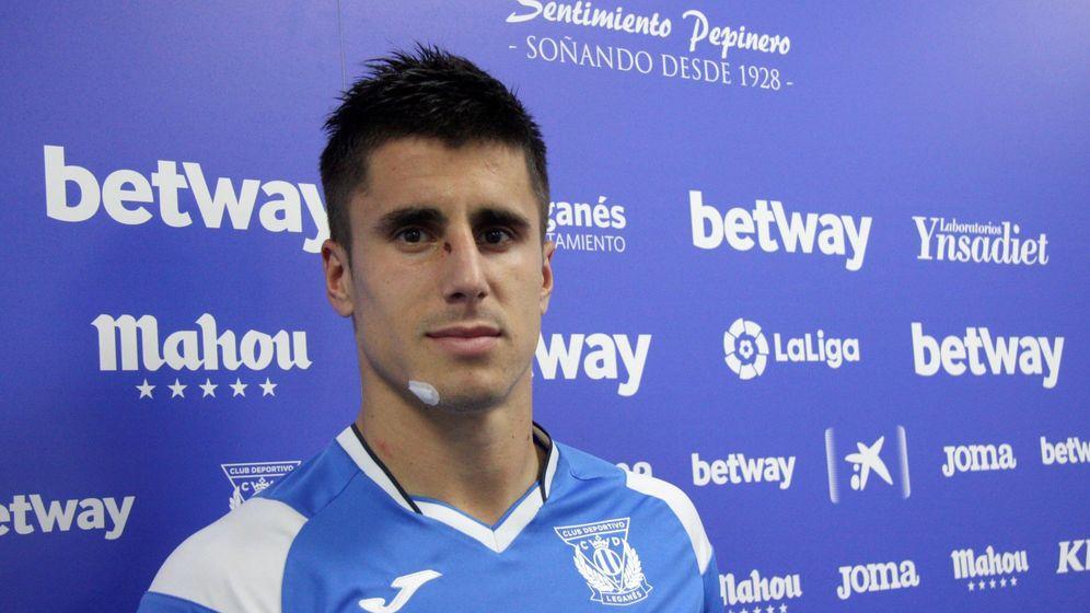 Foto: Unai Bustinza Martínez, jugador del Leganés. (Efe)