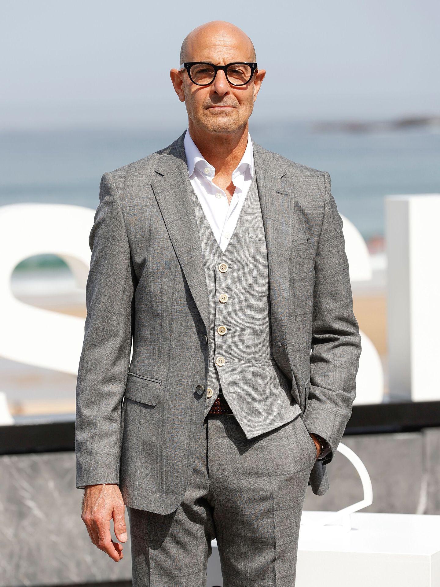 El actor Stanley Tucci, en el Festival de Cine de San Sebastián. (EFE)