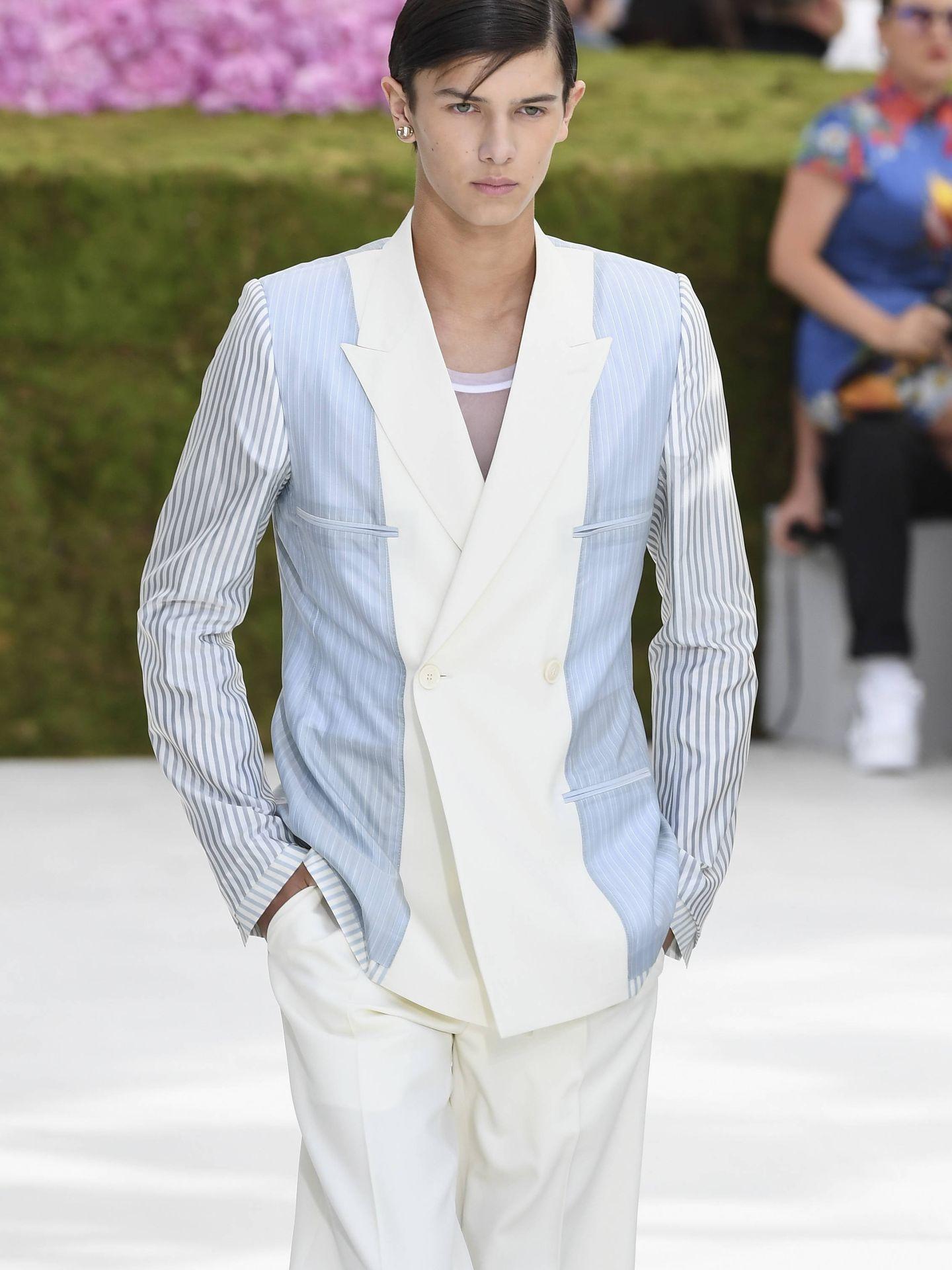 El príncipe Nicolás desfilando para Dior. (Getty)