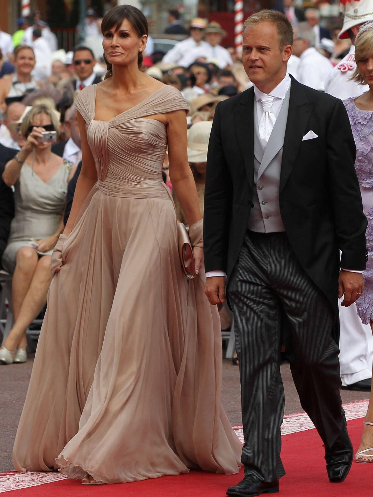 Isabell Kristensen, en la boda de Alberto y Charlène de Mónaco. (Getty)