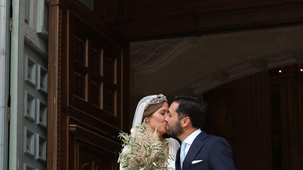 Foto: Dámaso González y Miriam Lanza recién casados. (Lagencia Grosby/Ángela Mora)
