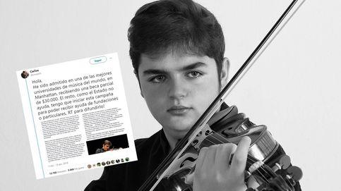 El violinista cordobés que pide 30.000 € para estudiar en EEUU: El Estado no me ayuda