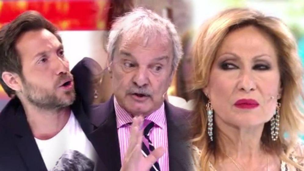 Foto: La gran bronca de Antonio David, Mariñas y Rosa Benito (Mediaset España)