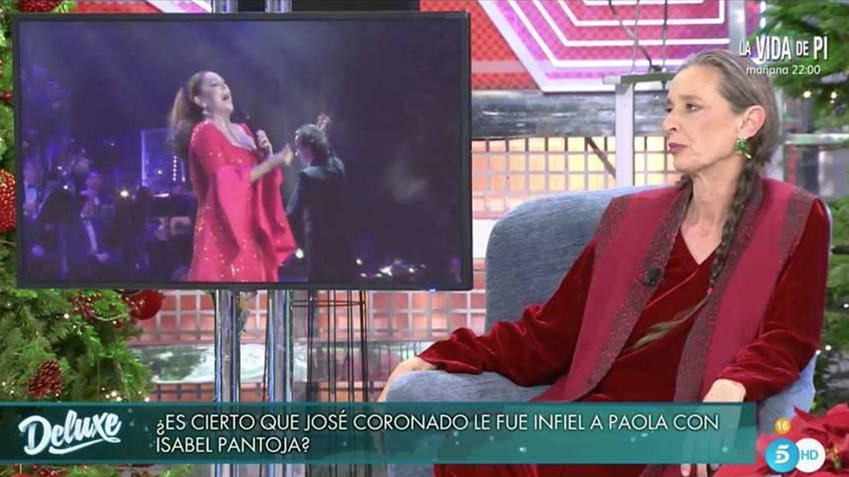 Paloma Dominguín en 'Sábado Deluxe'.(Telecinco)