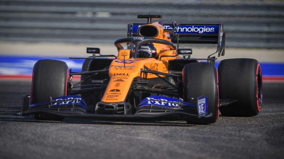 Foto: Carlos Sainz durante los entrenamientos del GP de Estados Unidos. (Reuters)