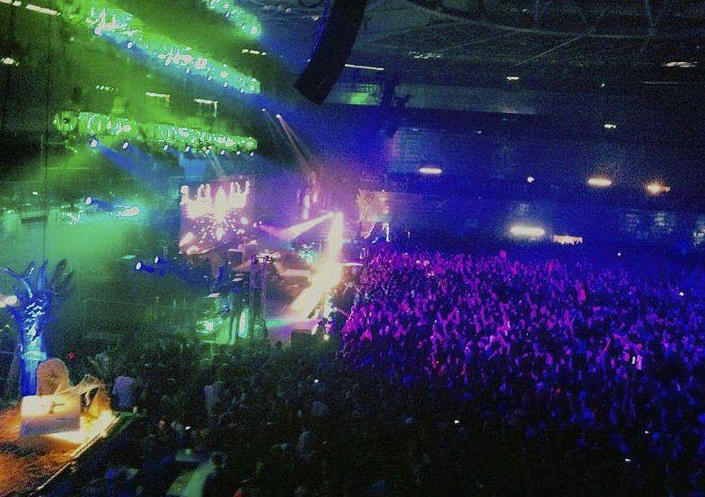 Foto: Un momento de la trágica fiesta celebrada en el Madrid Arena. (EFE)