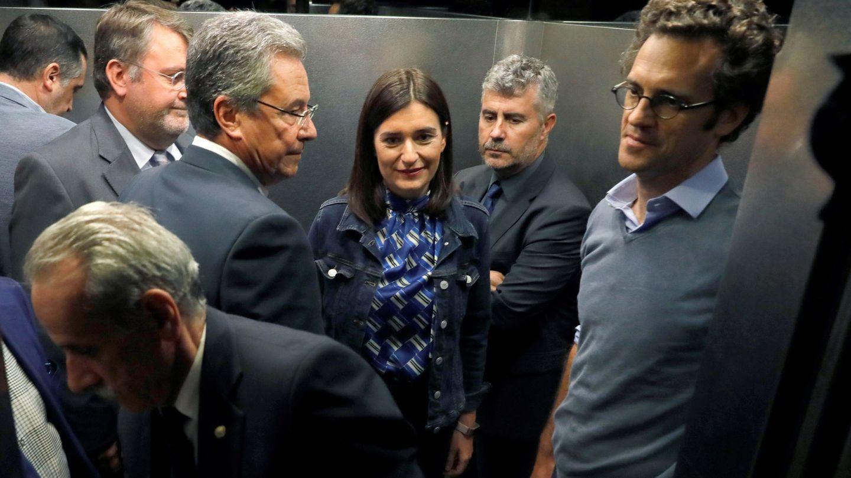 Carmen Montón, tras su dimisión. (EFE)