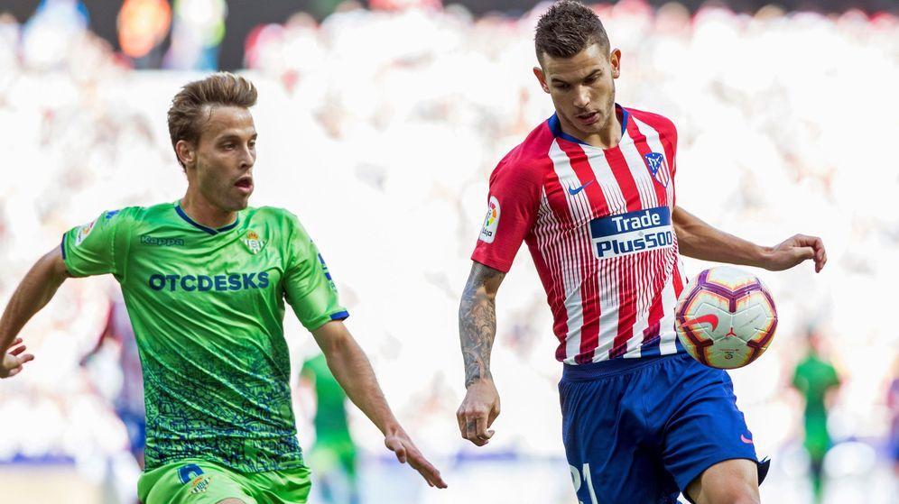 Foto: Lucas Hernández renovó el pasado verano con el Atlético de Madrid. (EFE)