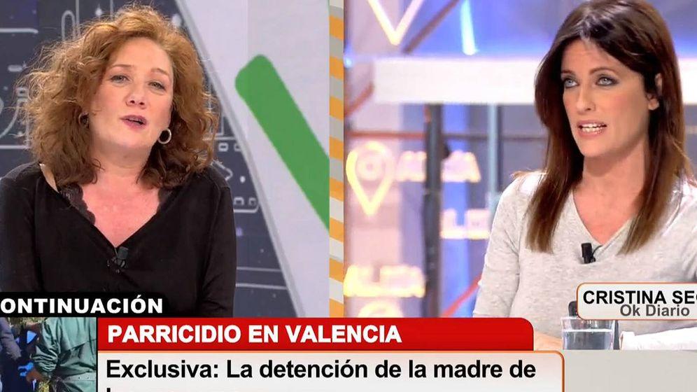 Foto: Cristina Fallarás y Cristina Seguí en 'Cuatro al día'. (Mediaset España)
