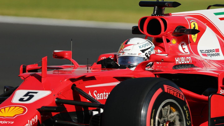 Vettel, en el SF70H. (EFE)