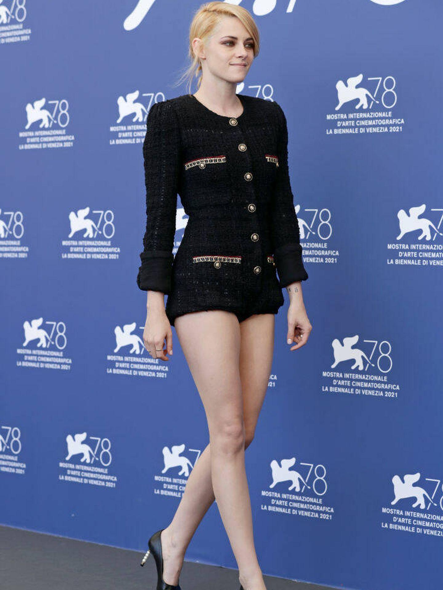 Kristen Stewart, en la tercera mañana del Festival de Venecia. (Getty)