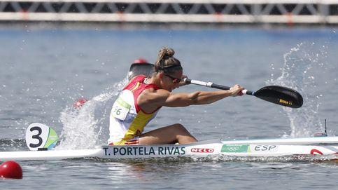 Los quintos Juegos de Teresa Portela: piragüista, fisio, maestra y madre
