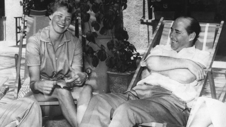 Ingrid Bergman y Roberto Rossellini, en Italia en 1952. (Getty)