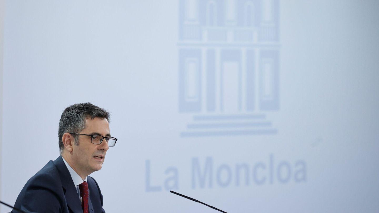 Félix Bolaños, en rueda de prensa tras el Consejo de Ministros.