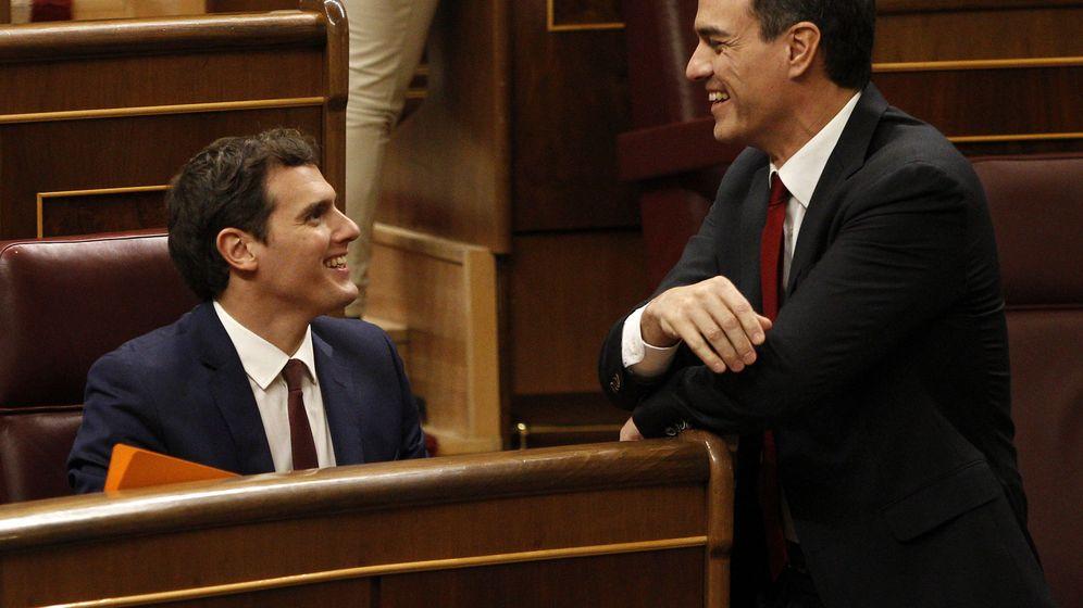 Foto: Pedro Sánchez y Albert Rivera