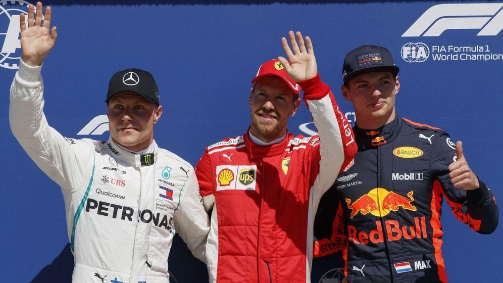 Foto: Vettel se llevó una pole tremendamente igualada por delante de Bottas y Verstappen (EFE)