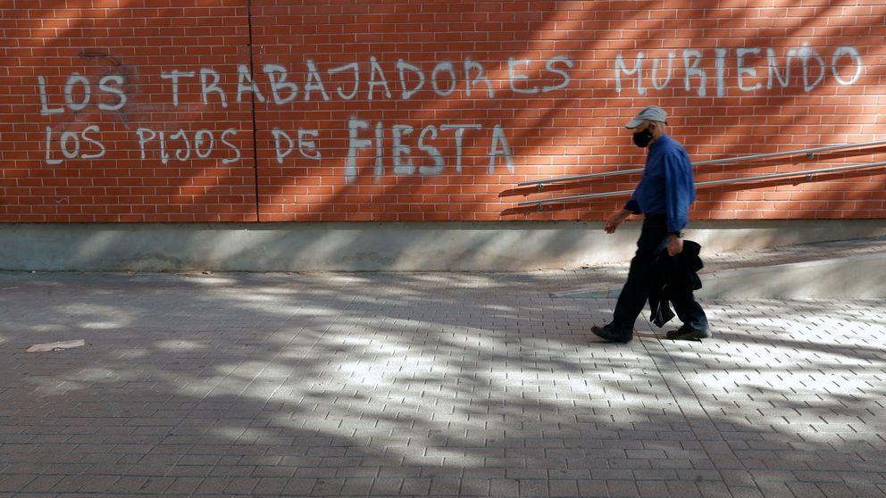 Fuera pijos: pintadas contra los estudiantes que provocaron un brote en Valencia