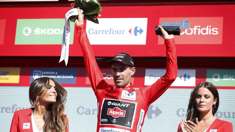 Foto: Tom Dumoulin es el nuevo líder de la Vuelta a España (Efe)
