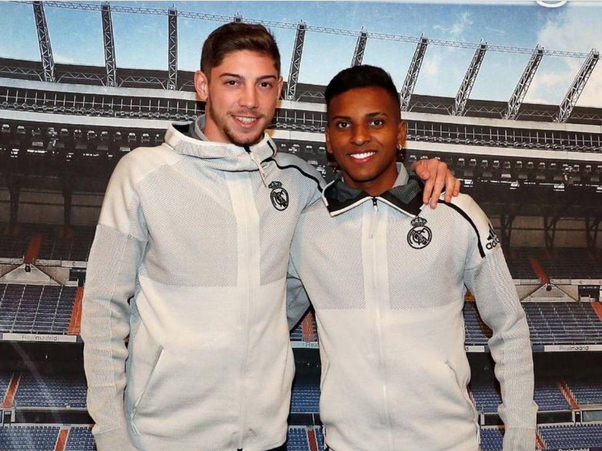 Foto: Fede Valverde y Rodrygo, dos jóvenes promesas del Real Madrid. (@fedevalverde)