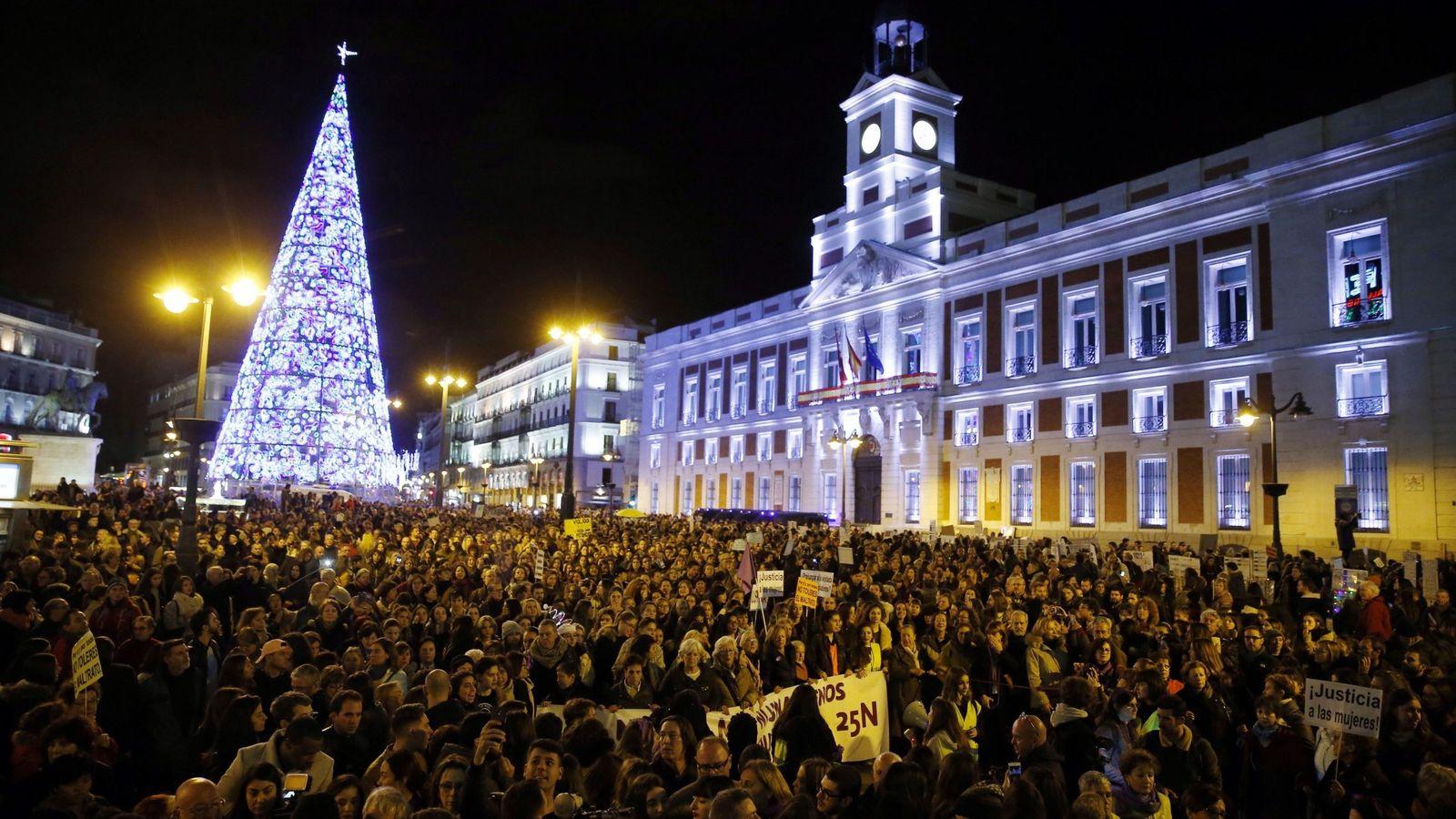 Foto: Manifestación feminista en Madrid en diciembre de 2017. (EFE)