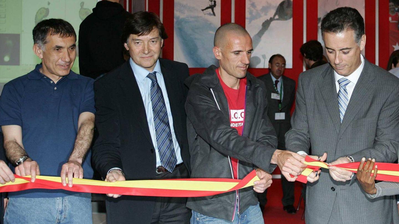 Mariano Ruiz y Chema Martínez en un acto de la candidatura olímpica de Madrid.