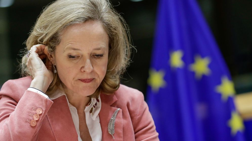 Foto: La ministra de Economía, Nadia Calviño, en Bruselas. (EFE)