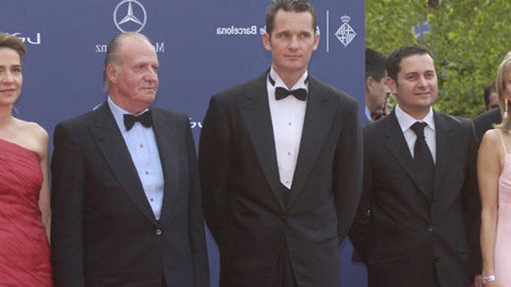 Foto: El Rey Juan Carlos, los Duques de Palma y Corinna en la entrega de los premios Laureus.